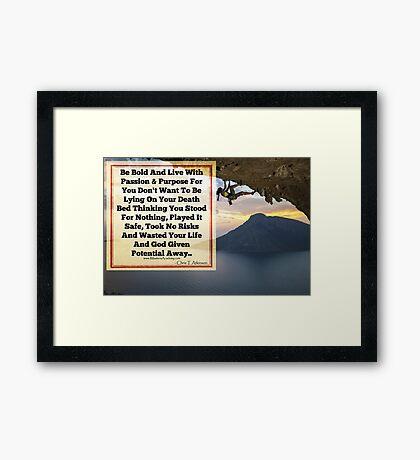 Your Death Bed Framed Print