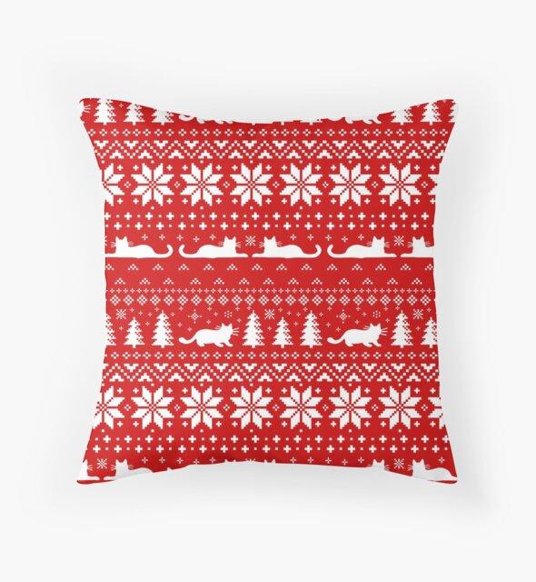 Cat Lover's Christmas Sweater Pattern by Jenn Inashvili