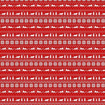 Weihnachtsstrickjacke-Muster des Katzen-Liebhabers von ShortCoffee