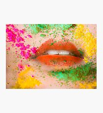 Holi Kiss Photographic Print