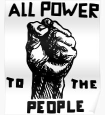 Alle Macht für die Menschen | Afroamerikaner | Schwarze Geschichte Poster
