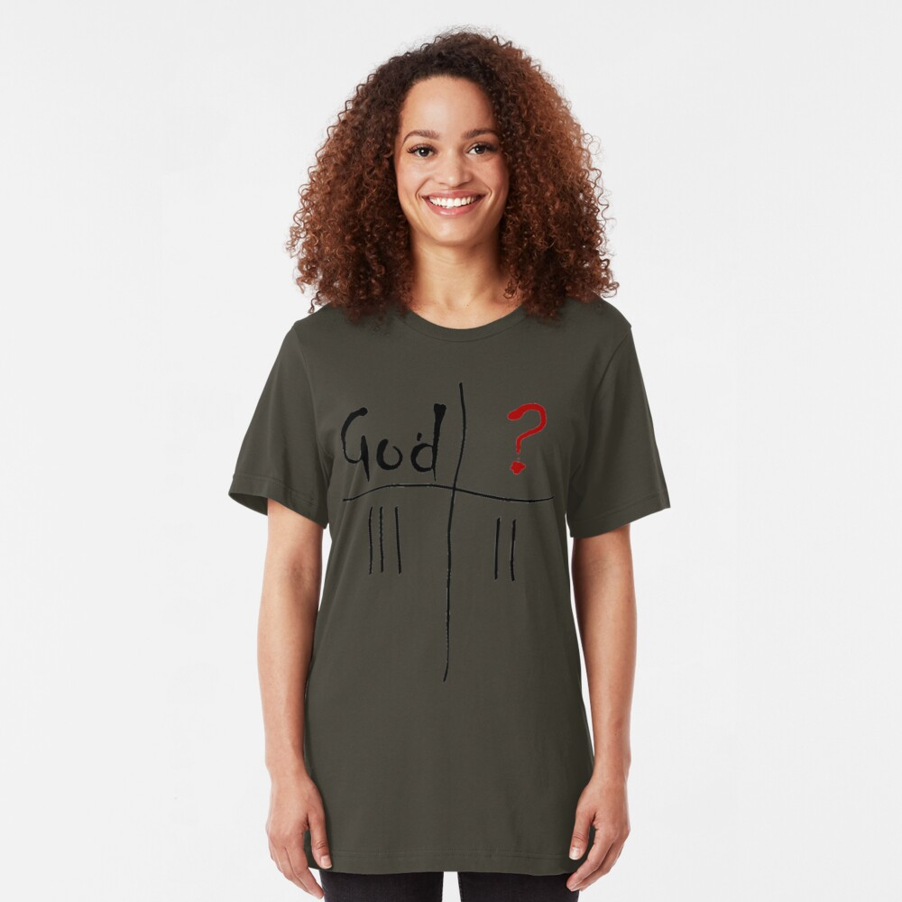 God vs. The Unknown. Slim Fit T-Shirt
