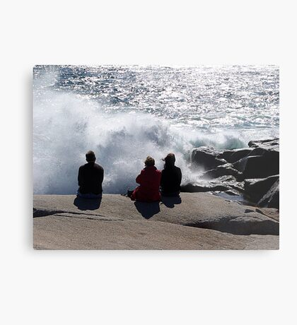 Three with the Ocean Metal Print