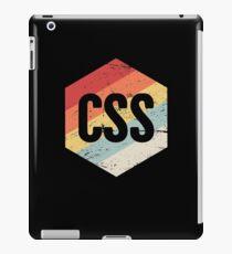Retro CSS Programming Language Icon iPad Case/Skin