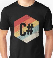 Retro C# Programming Language Icon Unisex T-Shirt