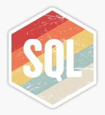 Retro SQL Programming Language Icon Sticker