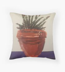 Inspired by Hockney Throw Pillow
