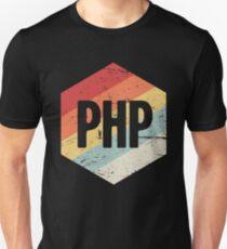 Retro PHP Programming Language Icon Unisex T-Shirt