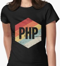 Retro PHP Programming Language Icon Women's Fitted T-Shirt