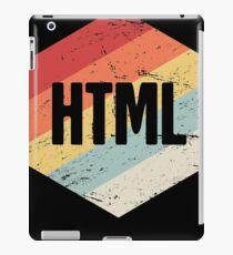 Retro HTML Programming Language Icon iPad Case/Skin