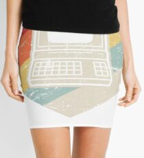 Vintage Retro Computer Icon   Computer Nerd Design Mini Skirt