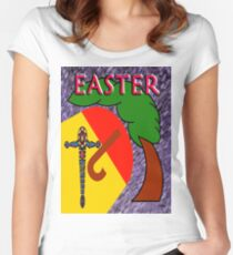 EASTER 4 Women's Fitted Scoop T-Shirt