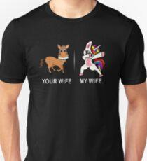 Unicorn Tshirt Your wife my wife for Men Funny Shirt  T-Shirt