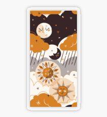Mid Century Sun & Moon Transparent Sticker