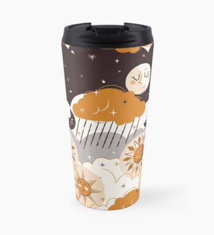 Mid Century Sun & Moon Travel Mug