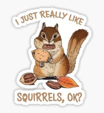 I Just Really Like Squirrels Ok Funny Squirrel Lover Sticker