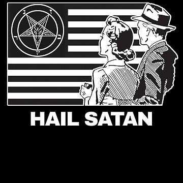 Hail Satan 666 T-Shirt by f-rico