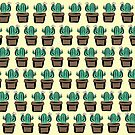 Cute Potted Cactus Pattern by GillianMeilin