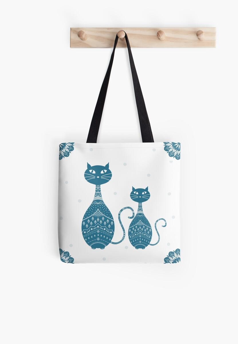 Blue Cat Illustration by Cristina Bianco Design
