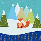 Fox Illustration - Let It Snow by Cristina Bianco Design