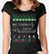 Lustiges Physik-Weihnachtsstrickjacke-T-Shirt-Fröhliches Weihnachten in der Physik für Frauen-Männer Tailliertes Rundhals-Shirt