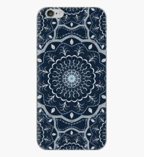 Black White Blue Mandala iPhone Case