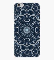 Schwarz Weiß Blau Mandala iPhone-Hülle & Cover