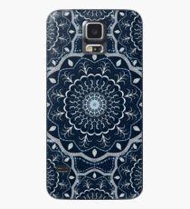Black White Blue Mandala Case/Skin for Samsung Galaxy
