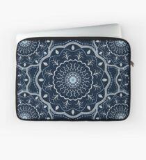 Schwarz Weiß Blau Mandala Laptoptasche