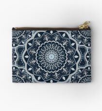 Black White Blue Mandala Studio Pouch