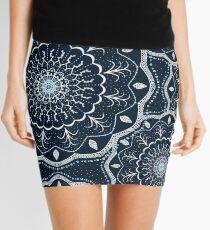 Black White Blue Mandala Mini Skirt