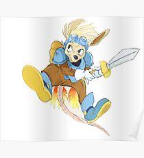 Rocket Knight Adventure -Sparkster the possum! Poster