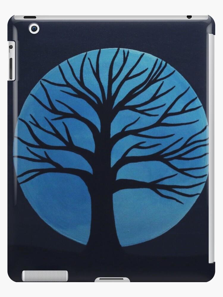 'Spooky Tree  (Blue)' iPad Case/Skin