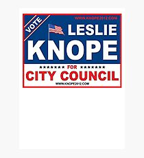 Leslie Knope For City Council  Photographic Print
