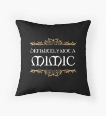 Definitely not a Mimic Tabletop RPG Addict Throw Pillow