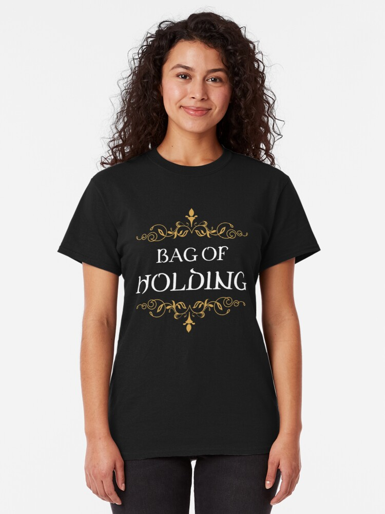 Alternate view of Bag of Holding Tabletop RPG Addict Classic T-Shirt