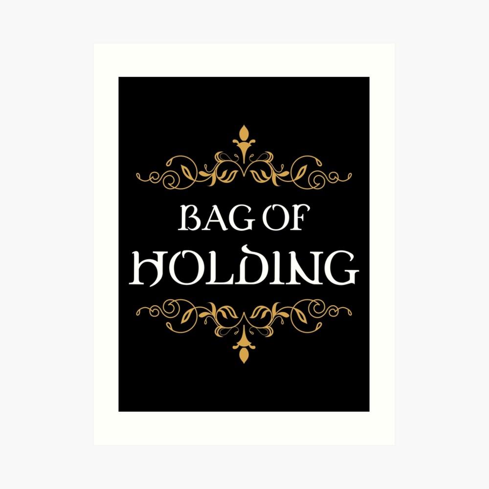 Bag of Holding Tabletop RPG Addict Art Print