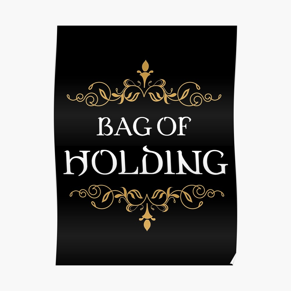 Bag of Holding Tabletop RPG Addict Poster