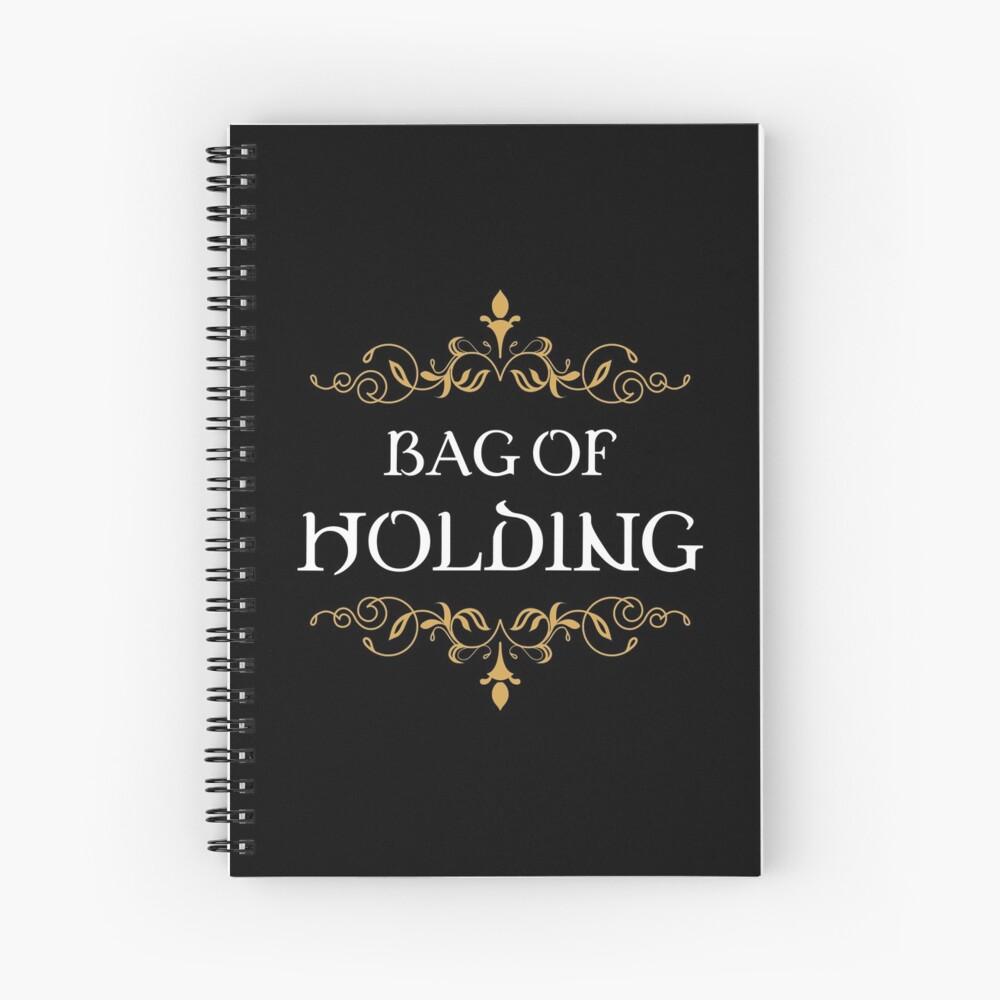 Bag of Holding Tabletop RPG Addict Spiral Notebook