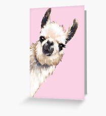 Sneaky Llama Greeting Card