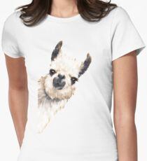 Sneaky Llama Women's Fitted T-Shirt