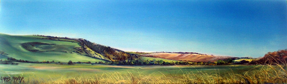 View across cuckmere valley to High & over (Sussex ) by LorusMaver