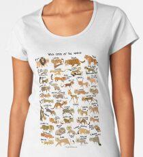 Wildkatzen der Welt Premium Rundhals-Shirt