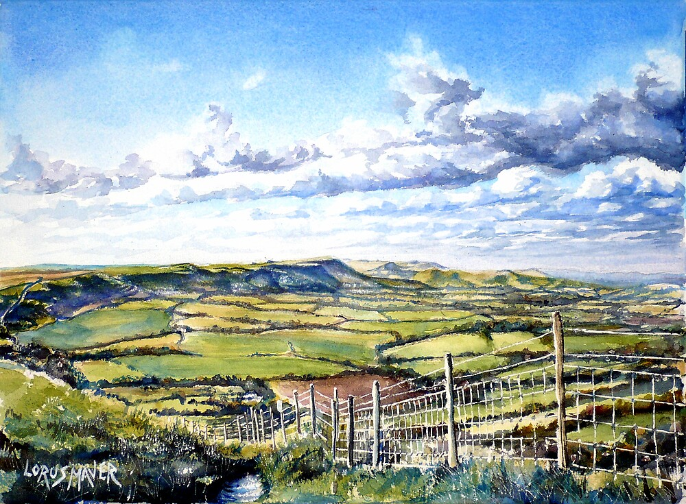 Firle Beacon from Windover Hill ( Sussex ) by LorusMaver