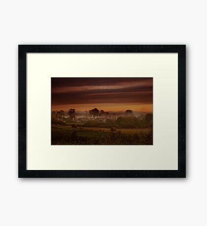 Fog in village Framed Print