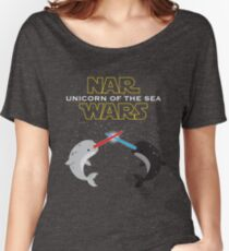Narwars Parody Funny Star Wars Narwhal Dabbing Women's Relaxed Fit T-Shirt