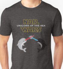Narwars Parody Funny Star Wars Narwhal Dabbing T-Shirt