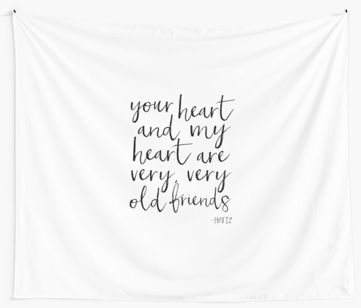 Friends gifthafiz quotegifts for best friendsfriendship giftwall art