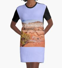 Hanging on the cliff at Kodachrome Basin State Park Graphic T-Shirt Dress