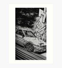 Anfängliches D Driften des Toyota AE86 Kunstdruck